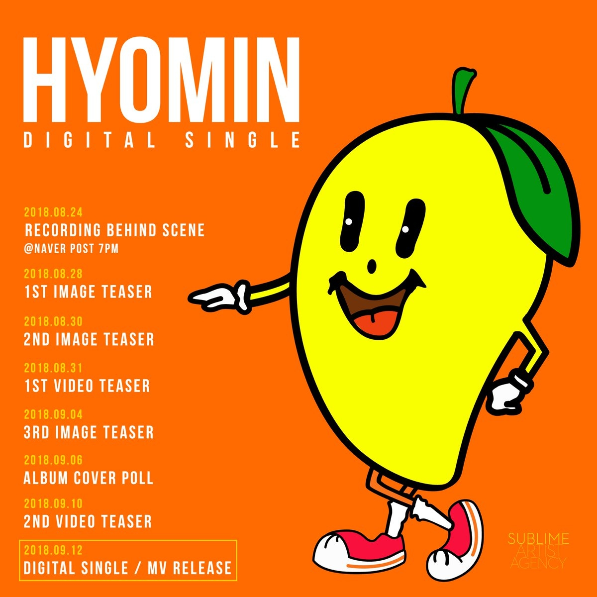 T-ara Hyomin Mango timetable