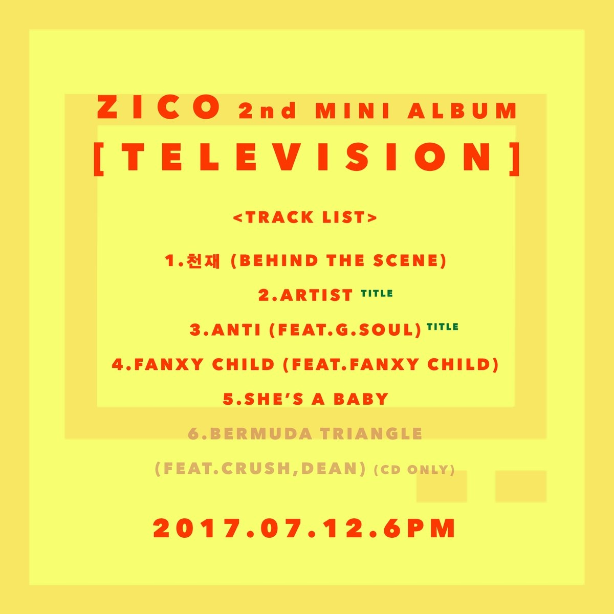 zico-tv_TRACKLIST