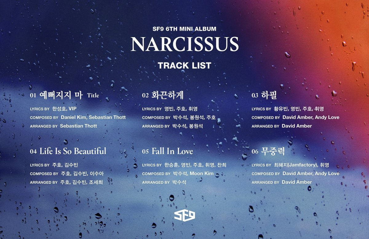 sf9_narcissus_tracklista