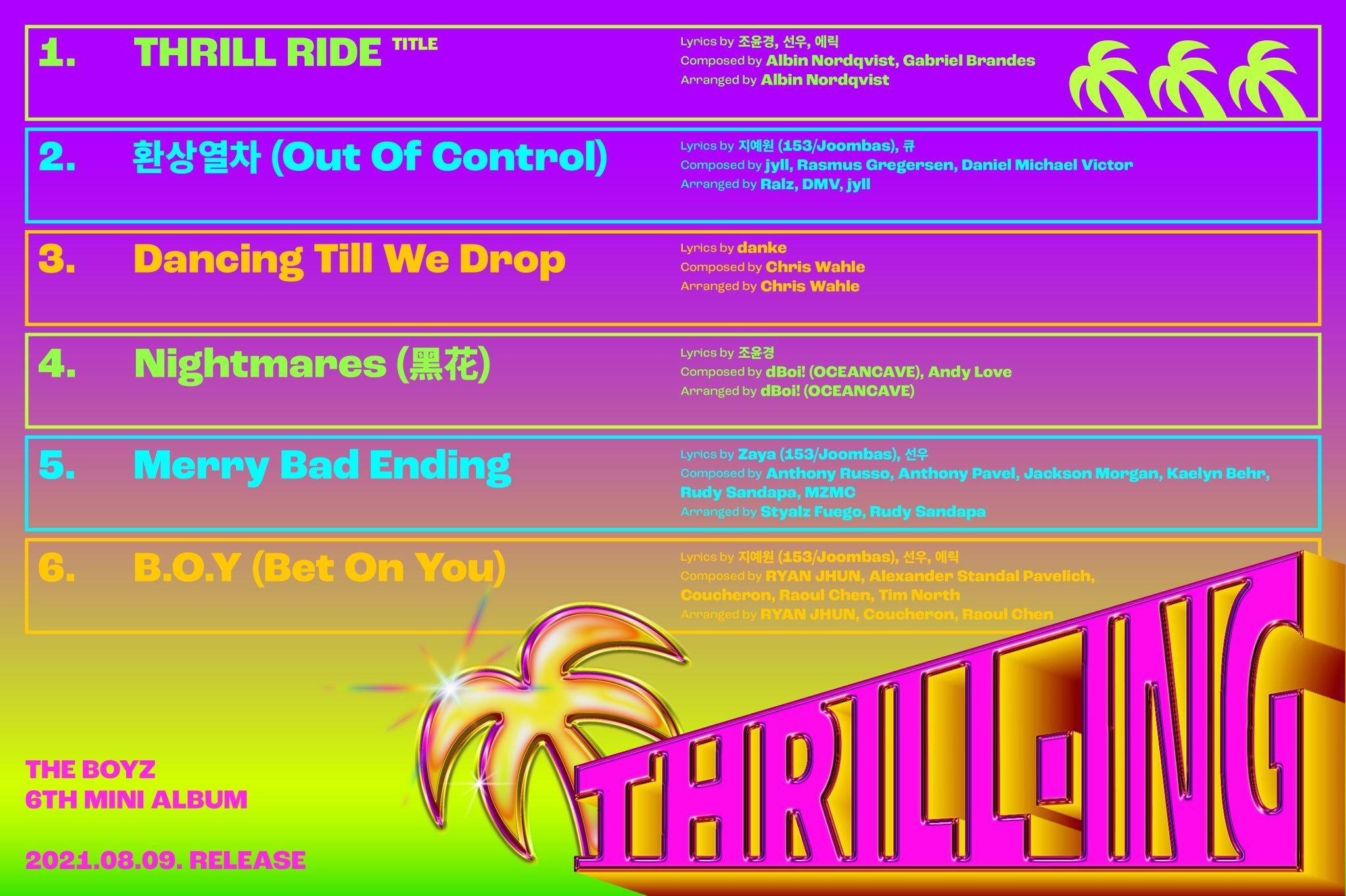 THRILL-ING-tracklista